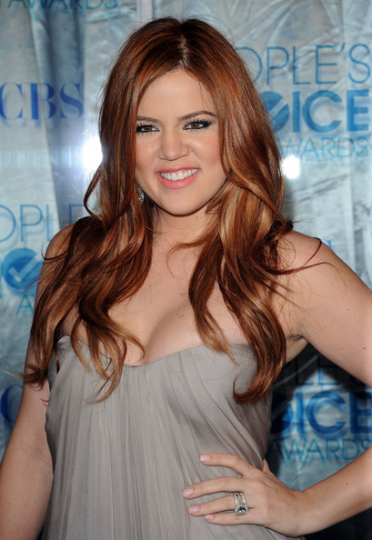 red hair khloe kardashian