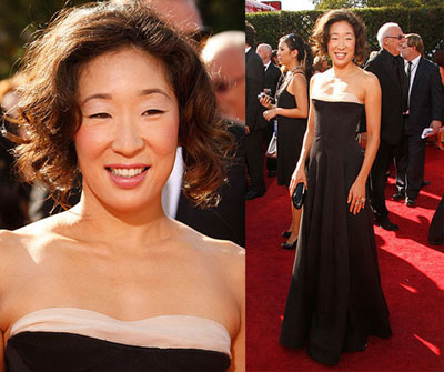 Sandra Oh at the Emmys-Hair Styled by Jamal Hamadi