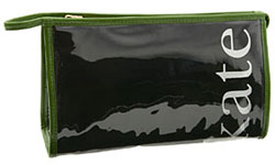 kate spade coal medium heddy cosmetic case in black