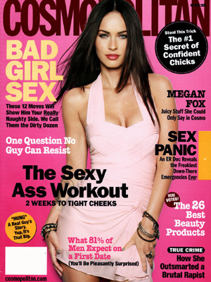 Megan Fox is gracing the cover of Cosmopolitan Magazine October 2009.