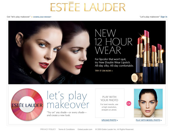 Slick technology Virtual Makeover sites offer free and paid services.