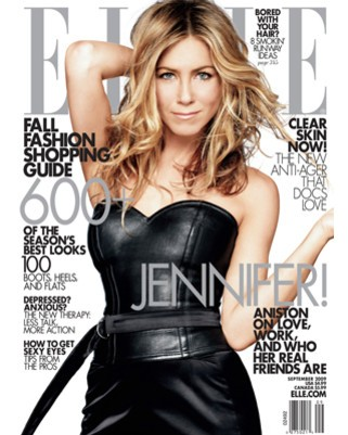 jennifer aniston hair color 2009. Jennifer Aniston on the cover
