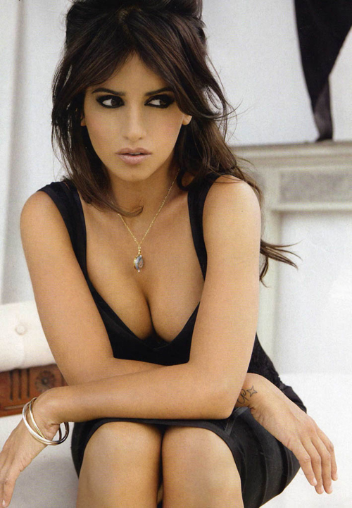 Monica Cruz In Elle Spain Magazine October 2009 Makeup