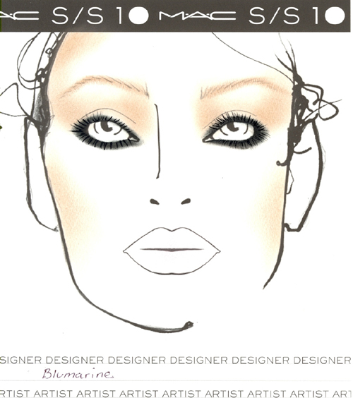 makeup face charts. MAC Makeup Face Charts