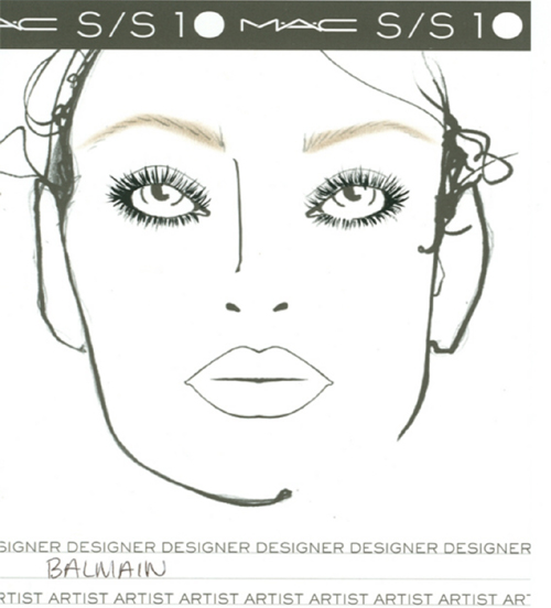 Week SS2010 MAC Makeup Face Charts | TalkingMakeup.com: Daily makeup