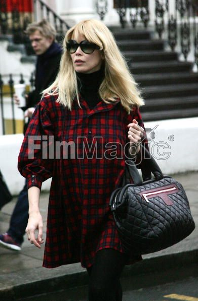 claudia schiffer hairstyles. Also spotted, Claudia Schiffer carrying her CHANEL Coco Cocoon in London.