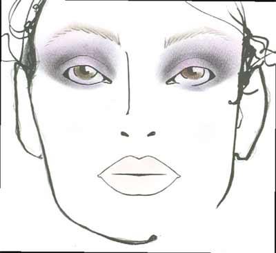 Makeup on Carolina Herrera Fall 2010 Makeup With Mac Cosmetics   Makeup And