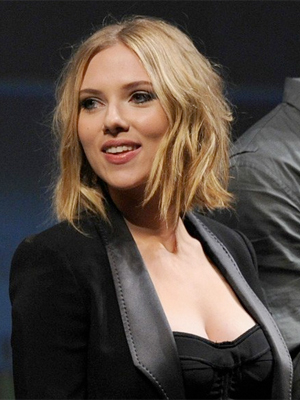 scarlett johansson sophisticated blonde updo long hairstyles