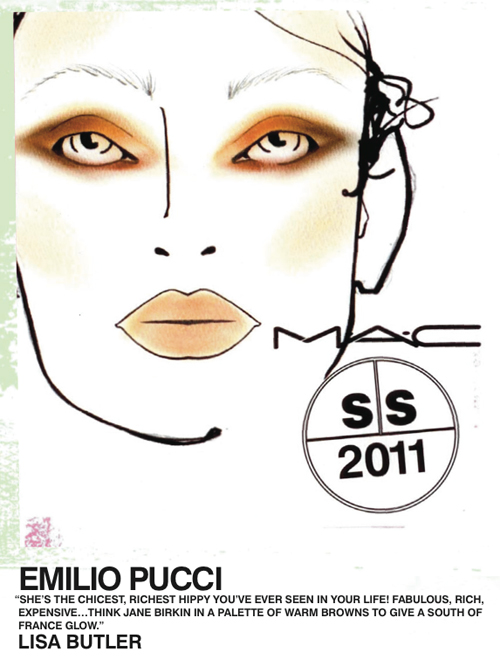 hippy makeup. Emilio Pucci MAC makeup face