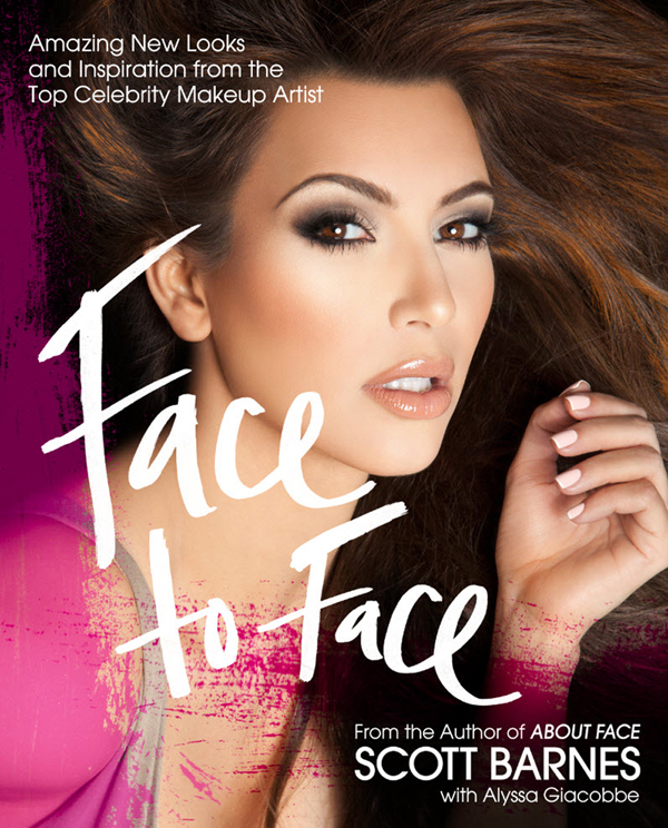 Kim kardashian covers scott barnes new beauty book face to face