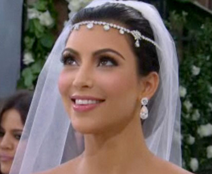 Kim Kardashian 39s Wedding Makeup Look Dedivanovic put the spotlight on one