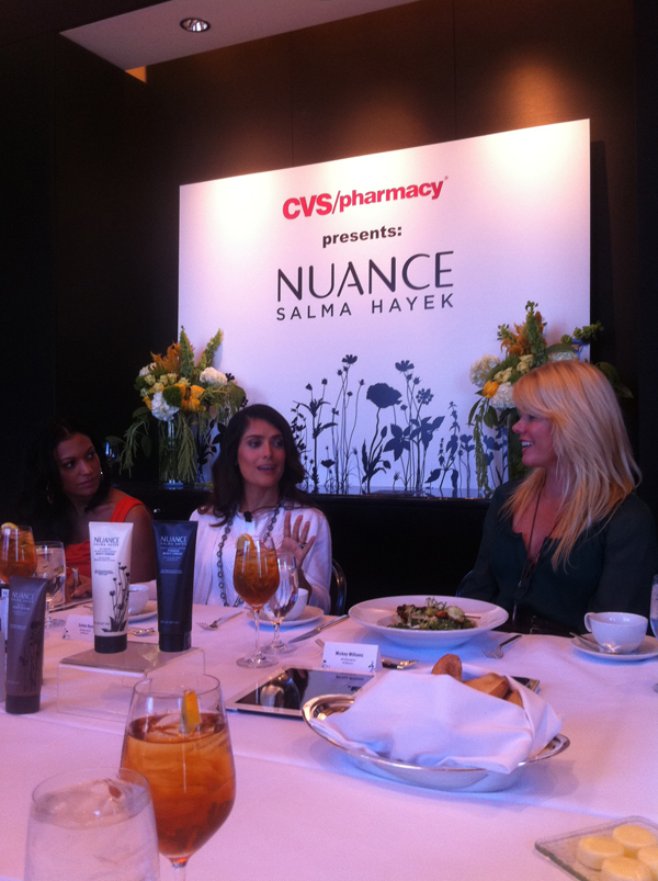 Lunch with Salma Hayek