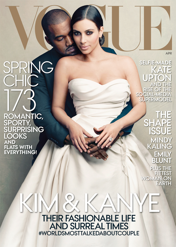 Kim Kardashian and Kanye West cover Vogue's April 2014 Issue