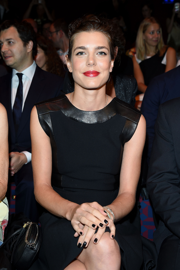 The face of Gucci Cosmetics, Charlotte Casiraghi front row