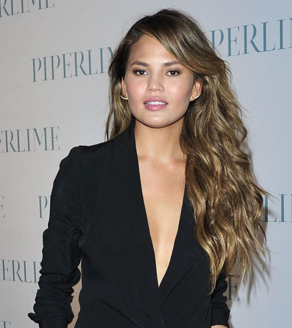 Chrissy Teigen | Makeup By Makeup artist Fiona Stiles. Hair by Giannandrea for Macadamia Natural Oil.
