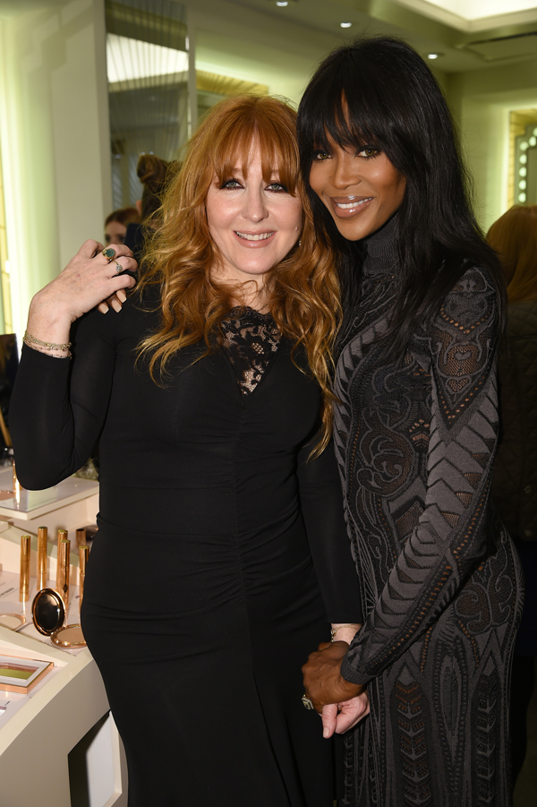 Celebrities & VIPs attend Charlotte Tilbury's VIP Make-Up Launch Party at Bergdorf Goodman in New York City | Charlotte Tilbury with Naomi Campbell