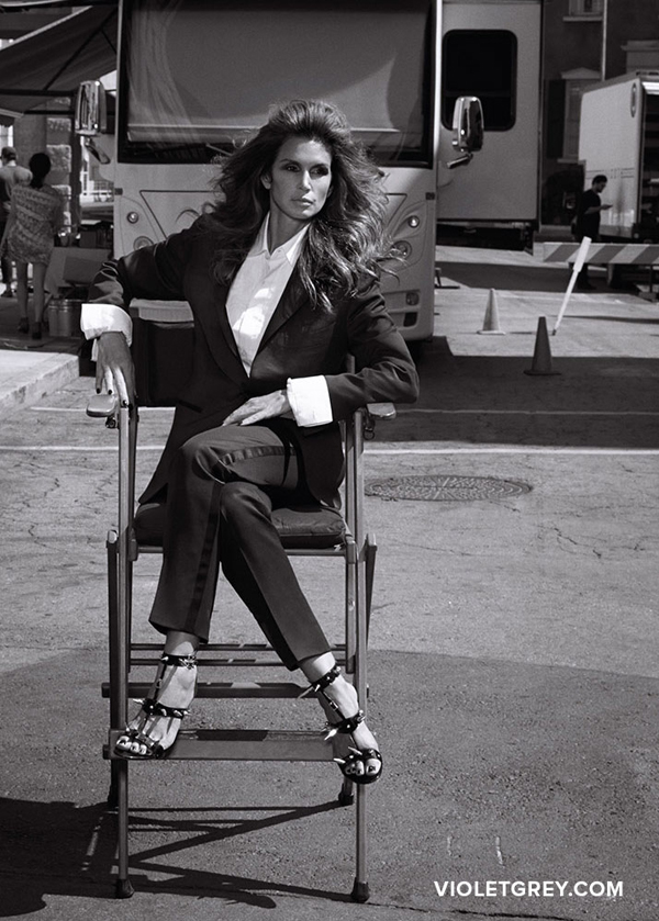 Cindy Crawford In VIOLETGREY.com | All photography was shot by  Emma Summerton @ CRM