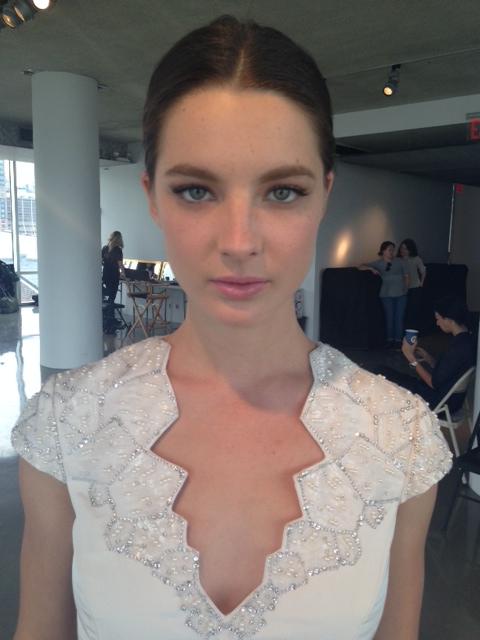 Pamella Roland Bridal Show makeup by Laura Mercier