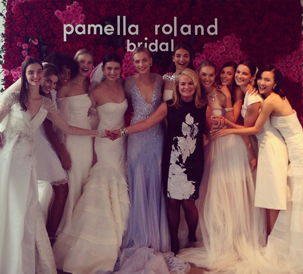 Pamella Roland Bridal Show makeup by Laura Mercier