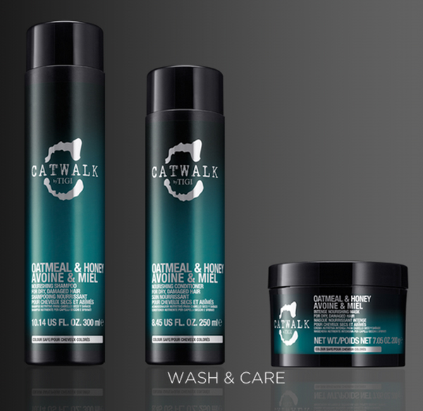 Catwalk by TIGI's Oatmeal and Honey Nourishing Shampoo and Conditioner and deep conditioner