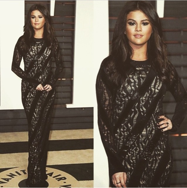 Selena Gomez At The Vanity Fair Party 2015