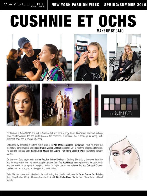 Maybelline NY Cushnie et Ochs SS16 Makeup