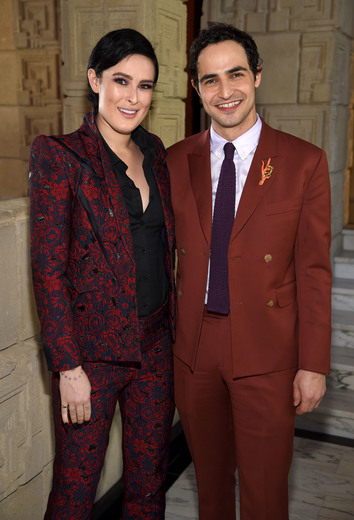 LOS ANGELES, CA - FEBRUARY 25: Actress Rumer Willis and fashion designer Zac Posen attend the M.A.C Cosmetics Zac Posen luncheon at the Ennis House hosted by Karen Buglisi Weiler, Demi Moore & Jacqui Getty on February 25, 2016 in Los Angeles, California. (Photo by Dimitrios Kambouris/Getty Images for MAC Cosmetics) Photo Credit - Getty Images for MAC Cosmetics