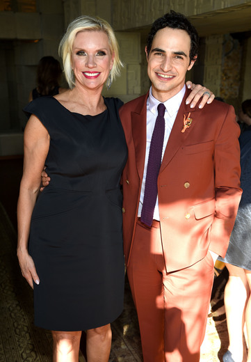 M.A.C. Global President Karen Buglisi Weiler and fashion designer Zac Posen attend the M.A.C Cosmetics Zac Posen luncheon at the Ennis House hosted by Karen Buglisi Weiler, Demi Moore & Jacqui Getty on February 25, 2016 in Los Angeles, California. (Photo by Dimitrios Kambouris/Getty Images for MAC Cosmetics) Photo Credit - Getty Images for MAC Cosmetics