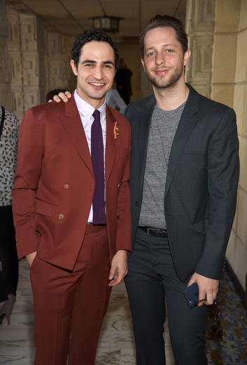 Fashion designer Zac Posen and writer Derek Blasberg