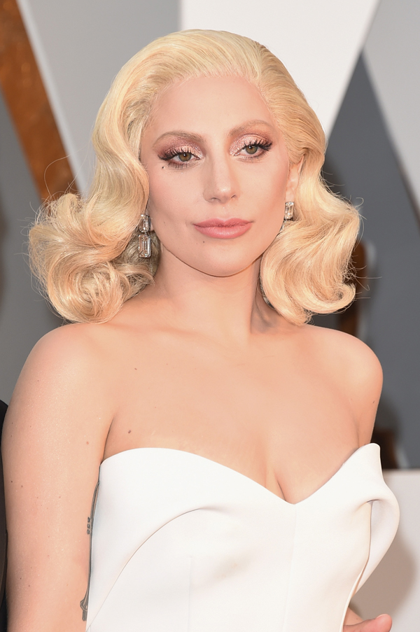 Lady Gaga Hair Oscars 2016