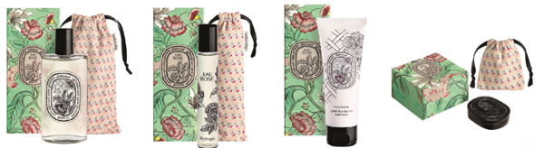Eau Rose Eau de Toilette, Eau Rose Roll-on, Eau Rose Hand Cream and Eau Rose Solid Perfume in Limited Edition Packaging
