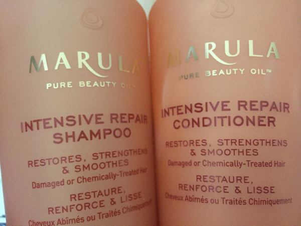 Marula Intensive Repair Shampoo & conditioner.