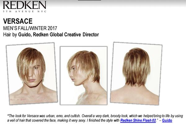 Redken Men's FW2017 Versace recap