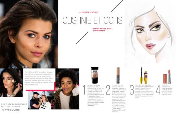 Maybelline New York Cushine et Ochs FW17 Makeup Recap. New York Fashion Week Fall Winter 2017.