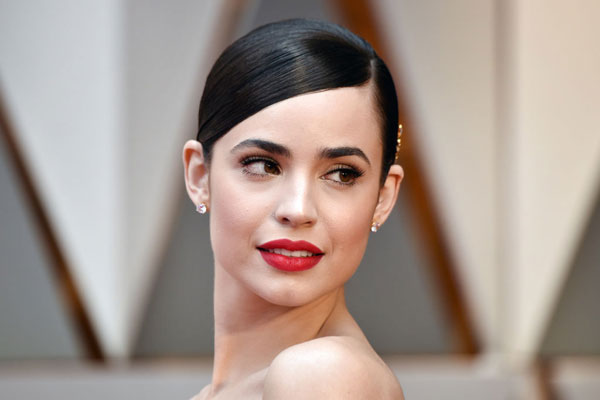 Sofia Carson for The Oscars LORAC Makeup