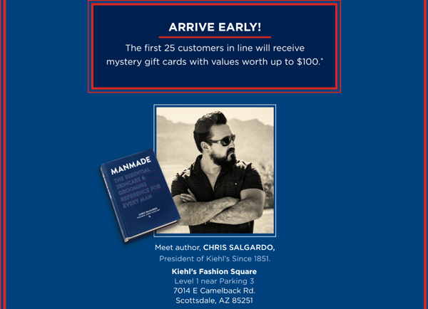 INVITE: Kiehl's Scottsdale this Thurs, Feb 16th