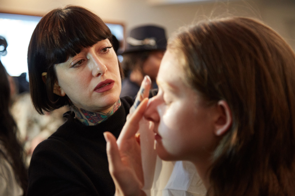 Maybelline New York backstage makeup at New York Fashion Week Fall Winter 2017.