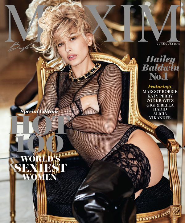 Maxim Hailey Baldwin Hot 100 Issue Cover Star