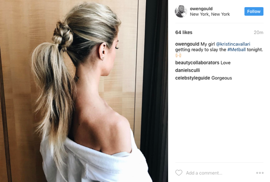 Hair How-to: Kristin Cavallari 2017 Met Gala Hair