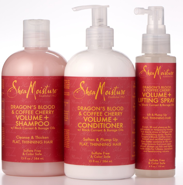 SheaMoisture Dragon's Blood & Coffee Cherry hair and skin collection