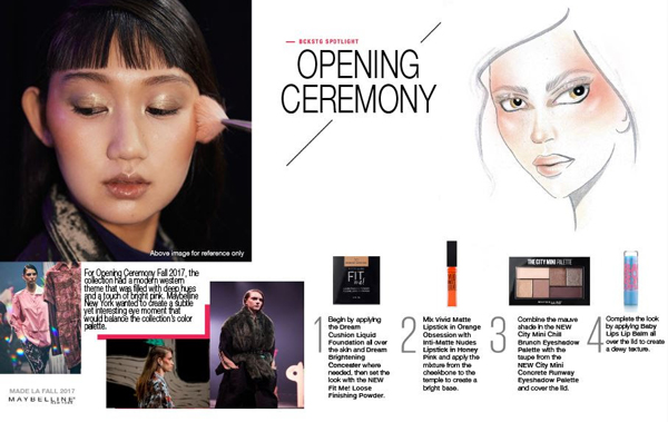 Maybelline New York Opening Ceremony Fall 2017 MADE LA Makeup Recap