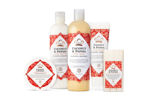 Nubian Heritage Coconut & Papaya bath and body collection