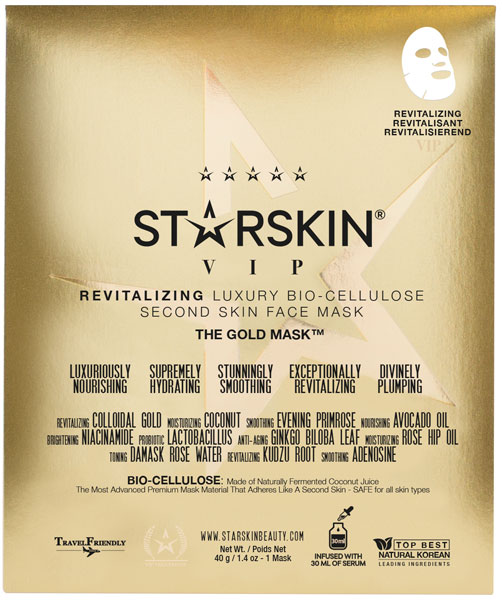 STARSKIN The Gold Mask™ VIP Revitalizing Luxury Bio-Cellulose Face Mask - The Gold Mask