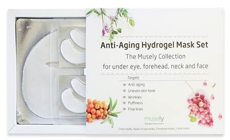 MUSELY ANTI-AGING HYDROGEL MASK SET